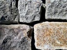 A pedra obstrui o fundo fotografia de stock