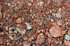 Pedra ou enchido com a estrada de terra da poeira Imagens de Stock Royalty Free