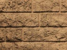 Pedra, para terminar de uma fachada Fundo do creme claro imagens de stock