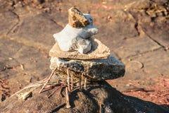 Pedra pequena colocada Foto de Stock Royalty Free