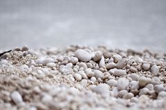 Pedra pequena na praia Imagens de Stock Royalty Free