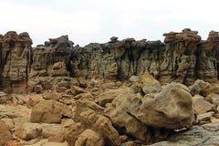 Pedra perto do mar em Tailândia Fotografia de Stock Royalty Free