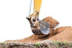 Pedra pesada do solo da escavação do grande backhoe Imagem de Stock Royalty Free