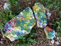 Pedra pintada com uma escova Imagem de Stock Royalty Free