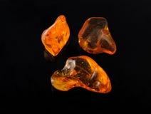 Pedra preciosa ambarina Fotos de Stock Royalty Free