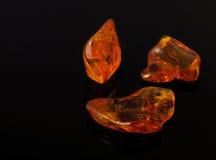 Pedra preciosa ambarina Imagens de Stock