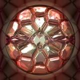 Pedra preciosa cor-de-rosa ilustração royalty free