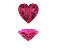 Pedra preciosa da forma do coração Fotografia de Stock Royalty Free