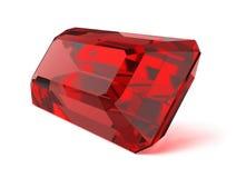 Pedra preciosa do rubi Imagens de Stock Royalty Free