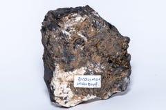 Pedra preciosa mineral da joia da gema de pedra preciosa do preto de Brauner Glaskopf Fotografia de Stock