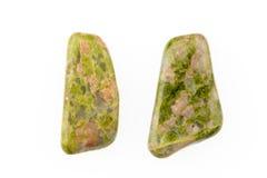 Pedra preciosa natural de Unakite Fotografia de Stock