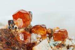 Pedra preciosa natural Spessartite Fotos de Stock Royalty Free