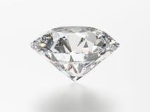 pedra preciosa redonda esmeralda branca do diamante da ilustração 3D com reflec Fotografia de Stock Royalty Free