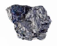 pedra preta crua de carvão no branco fotografia de stock royalty free