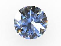 Pedra redonda do diamante Fotos de Stock Royalty Free
