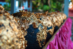 Pedra redonda dourada Fotografia de Stock