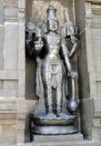 Pedra Sclpture do preto da deidade hindu Fotos de Stock