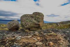 Pedra seydy Fenômeno natural Carélia Rússia fotos de stock