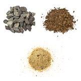 Pedra, solo, areia Imagens de Stock Royalty Free