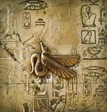Hieroglyphs egípcios Fotografia de Stock Royalty Free