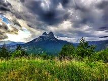 Pedraforca& x27; montaña de s fotos de archivo