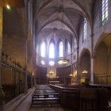 Pedralbes修道院大教堂内部  免版税图库摄影