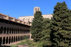 Pedralbes修道院  图库摄影