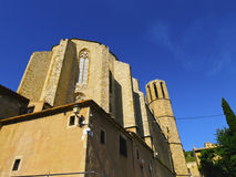 Pedralbes Monastery in Barcelona. Monestir de Pedralbes - Monastery of Pedralbes in Barcelona, Catalonia, Spain royalty free stock photography