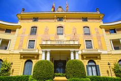 Pedralbes palace Barcelona Stock Photos