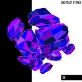 Pedras abstratas imagens de stock