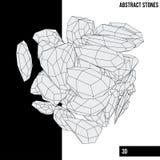 Pedras abstratas imagem de stock royalty free