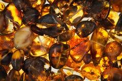 pedras ambarinas Fotos de Stock Royalty Free