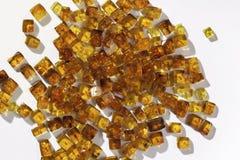 Pedras ambarinas amarelas Foto de Stock