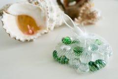 Pedras artificiais com shell Fotografia de Stock Royalty Free