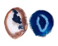Pedras coloridas lustradas da ágata Fotografia de Stock