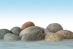Pedras com água Imagens de Stock
