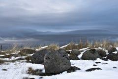 Pedras congeladas Fotografia de Stock Royalty Free