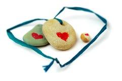 Pedras da árvore com coração. Imagens de Stock