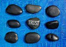 Pedras da confiança Imagens de Stock Royalty Free