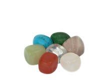 7 pedras da cor Fotografia de Stock