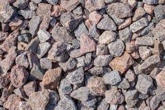 Pedras da cor cinzenta do tamanho diferente Imagens de Stock