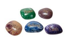 Pedras da esperança da alegria da parte Imagem de Stock