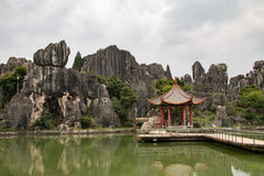 Pedras da floresta em Kunming, China Fotografia de Stock