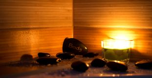 Pedras da massagem Imagens de Stock Royalty Free
