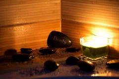 Pedras da massagem Fotografia de Stock