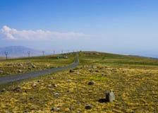 Pedras da paisagem de Aragats da montagem fotos de stock