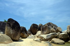 Pedras da praia fotografia de stock