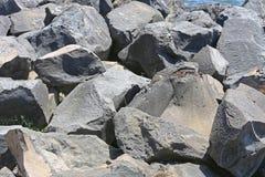 Pedras da rocha vulcânica Imagens de Stock