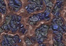 Pedras da safira enterradas dentro da terra Fotos de Stock