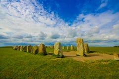 Pedras de Ales em Skane, Suécia fotos de stock royalty free